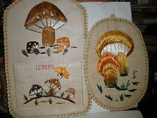 2 NEW Made in Philippines wall hangings Letters letter holder & mushrooms NICE