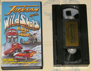 "1991 JACKSON BROS. VHS TAPE ""WILD SHOTS OLDIES AND GOODIES"" DRAG RACING VG COND!"