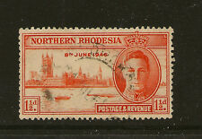 NORTHERN RHODESIA : 1946 Victory 1 1/2d perf  13 1/2   SG46a used