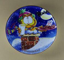 GARFIELD Calendar Plate DECEMBER Perpetual Danbury Mint Cat Jim Davis