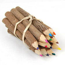 NATURAL TWIG COLOR PENCILS /WOODEN COLOR PENCIL