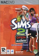 Los Sims 2 Open for Business Expansion Pack Mac OS: 10.3.9 Juego Nuevo Y Sellado