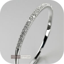 18k white gold gp made with SWAROVSKI crystal slip-on bangle bracelet classic
