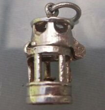 Vintage Silver large 'PIT LAMP' Charm Opens Weight 2.4g