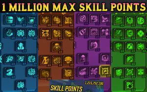Borderlands 3 Modded ONE MILLION SKILL POINTS 👾 MAX SKILL TREE - PC XBOX