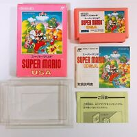SUPER MARIO USA Famicom Nintendo with box and manual Japan game FC NES