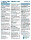 Outlook 2016 Training Guide Quick Reference Card 4 Page Cheat Sheet Instructions