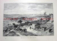Turkey, PLAINS OF TROY, TROJAN WAR ANCIENT CITY RUINS ~ 1890 Art Print Engraving