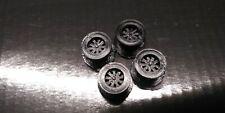 4 Tru Spoke Black Schaper Stomper 4x4 Truck RIMS (3D Printed) *see desc