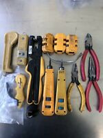 TELCO CABLE COPPER COAX MISC INSTALLATION REPAIR HAND TOOLS USA LOT