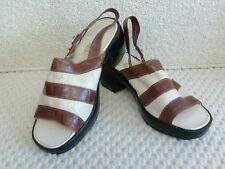 vintage original 1970s ladies slingbacks sandals made uk by pirelli  size 4