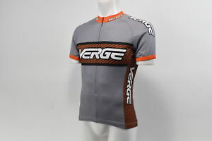 Verge Classic Race Short Sleeve Cycling Jersey, Dark Grey/Org Carb Closeout