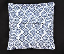 Indian Home Decor Cushion Cover Abstract Block Printed Throw Pillow Case Ethnic