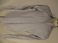 Brooks Brothers Makers Mens Blue Stripe French Cuff Dress Shirt 15.5-35 USA Made