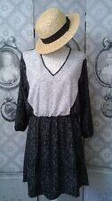 """Robe Tunique """"H&M"""" Neuve Taille 42 (US 12) noir/gris/blanc"""