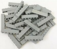 Lego X25 New Light Bluish Gray 1x6 Brick / Medium Stone Gray Building Bricks Lot