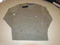 Mens Tommy Hilfiger long sleeve sweater shirt  Pima Cotton 7864540 grey 004 L