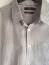 Jeff Banks designer Tailored fit Check shirt short sleeved  size XLarge