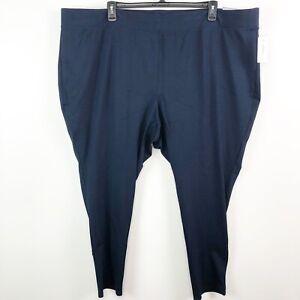 Catherines Leggings Womens 5X navy blue ponte knit stretch pull on slim skinny