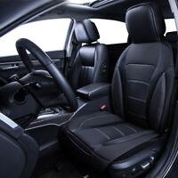 Car Seat Cover Leather Universal Car Cushion Grey Black Anti-dirty for Sedan 1PC