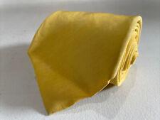 Rubinacci Men's Yellow Solid LINEN Neck Tie $78