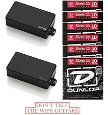 EMG 81 + 60A Black Active Solderless Humbucker Pickup Set ( 6 FREE STRING SETS )