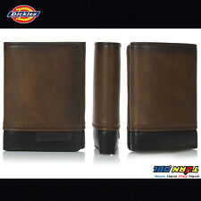 NEW Dickies Men's Two Tone Trifold Wallet 31DI110004 Black Brown logo