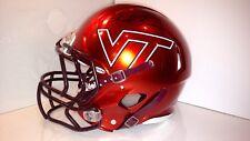Sam Rogers Signed Game Worn Metallic Orange Virginia Tech Hokies Helmet Beamer