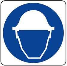 ADESIVO segnaletica obbligo casco di protezione 120x120 mm