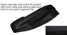 Negro Stitch Freno De Mano adorno de piel cubierta Para Vw Golf Mk1 Jetta Caddy Scirocco