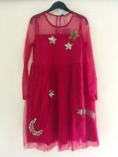 FRIBOO festliches Kleid Mädchen Spitze rot m.Pailetten Gr. 134/140 Neu m.Etikett