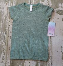 NWT IVIVVA b Lululemon Green FLY TECH Short Sleeve Shirt Gym fit Sport Size 10