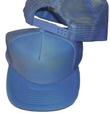 12pc BLANK COBALT BLUE MESH TRUCKER STYLE VINTAGE SNAPBACK HAT baseball cap A101
