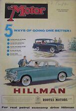 Motor magazine 9 January 1957 featuring Renault Dauphine road test