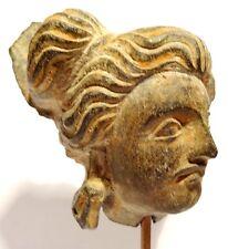 TETE DU GANDHARA SCULPTEE EN SCHISTE - 100/400 AD -  GANDHARAN CARVED STONE HEAD