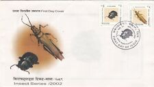 Nepal Postage Stamp – Insects – Beetle – Locust – Fdc 2002