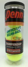 3 Penn Championship Tennis Balls Extra Duty Yellow Felt Hard Court Usta Itf
