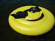 """Große XXL aufblasbare Schwimminsel """"Cool-Smiley"""" Style ~150 cm Durchmesser"""