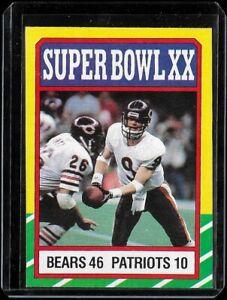 1986 Topps Super Bowl XX NM-MT