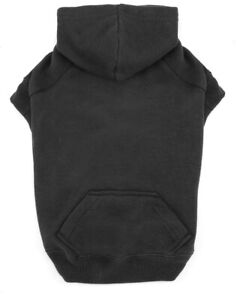 CASUAL CANINE Cotton Basic Dog Hoodie Size M - Black