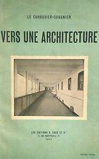 Vers Une Architecture LE CORBUSIER Saugnier 1923 Modernist avant-garde movement