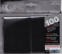 100 PRO-MATTE ECLIPSE JET BLACK DECK PROTECTOR CARD SLEEVES FOR MTG ULTRA PRO