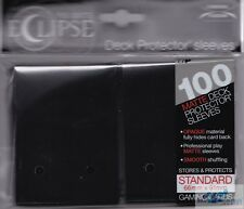 100 PRO-MATTE ECLIPSE JET BLACK DECK PROTECTOR CARD SLEEVES FOR MTG ULTRA PRO