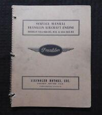 Véritable FRANKLIN B31 6A4-150-B3 6A4-165-B3 Avion Moteur Service Réparation