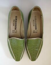 Giraudon Women's Green Comfort Shoe Low Flats Size 6.5 Loafers  New is $280 US