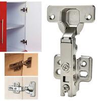 Soft Close Cabinet Door Cupboard Slow Shut Clip-on Plate Hydraulic Hinge gtJCAU