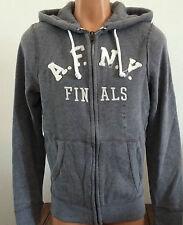 Abercrombie & Fitch Mens Medium Gray Full Zip Sweatshirt Hoodie Sweat Jacket