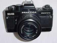 PRAKTICA BMS 35mm FILM SLR electronic MANUAL CAMERA W/ PENTACON 50/1.8 MC Lens