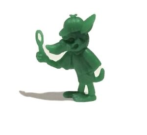 CEREAL TOY KELLOGGS AUSSIE 1970s R&L GREEN VINTAGE Wolf Detective