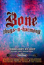 Bone Thugs-N-Harmony 2017 New York Concert Tour Poster-Hip Hop, Gangsta Rap, R&B